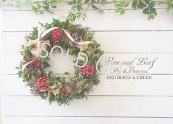 画像1: 赤いベリーとワタカラのクリスマスリース〜Vine and Leaf の Christmas〜