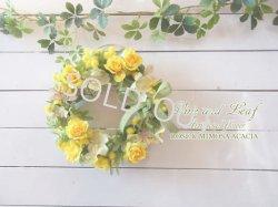 画像1: ミモザとバラのリース〜長く飾れるアーティフィシャルリース