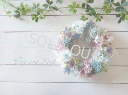 画像1: バラとアジサイのモーヴリース〜ずっと咲き続けるプリザーブドフラワーリース〜