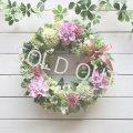 さわやか野の花リース〜ずっと飾れるアーティフィシャルリース