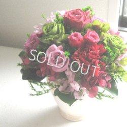画像1: 【ずっと咲き続ける魔法のお花】バラたっぷりのアンティークコンポート【送料無料】
